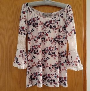 Small off-the-shoulder floral top